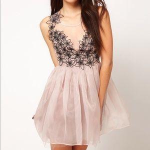 Lipsy London VIP line prom cocktail appliqué dress